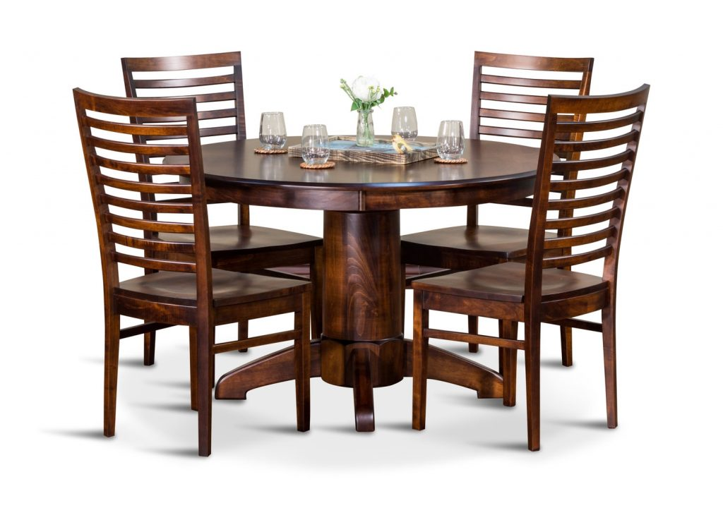 Tucson Amish Maple 48 Round Table And 4 Hom Furniture