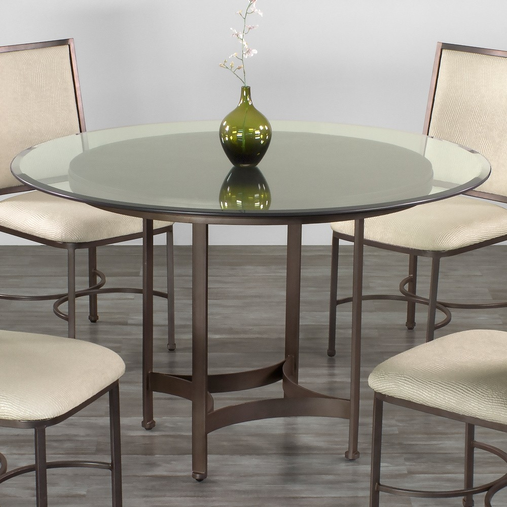 Tucson Round Glass Dining Table Wesley Allen Humble Abode