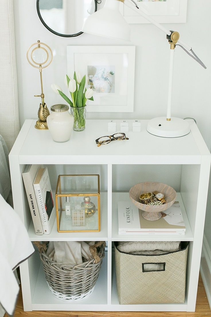 Use Ikeas Kallax Expedit Shelf As A Nightstand 14 Easy And