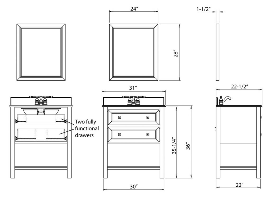Vanity Cabinet Sizes Veterinariancolleges
