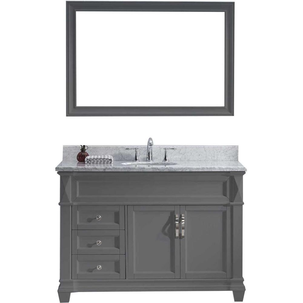 Virtu Usa Victoria 49 In W Bath Vanity In Gray With Marble Vanity