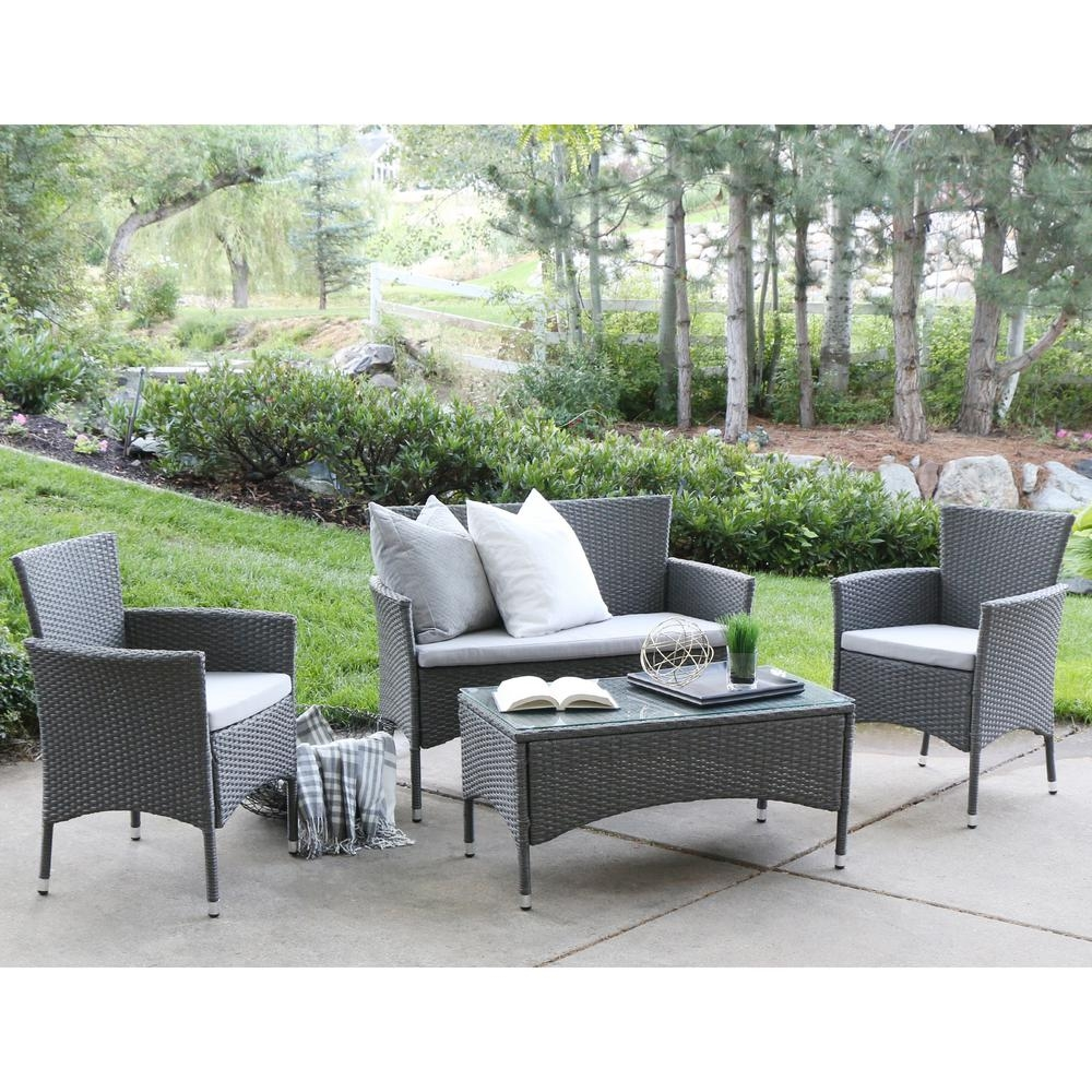 Walker Edison Furniture Company Patio Conversation Sets Outdoor