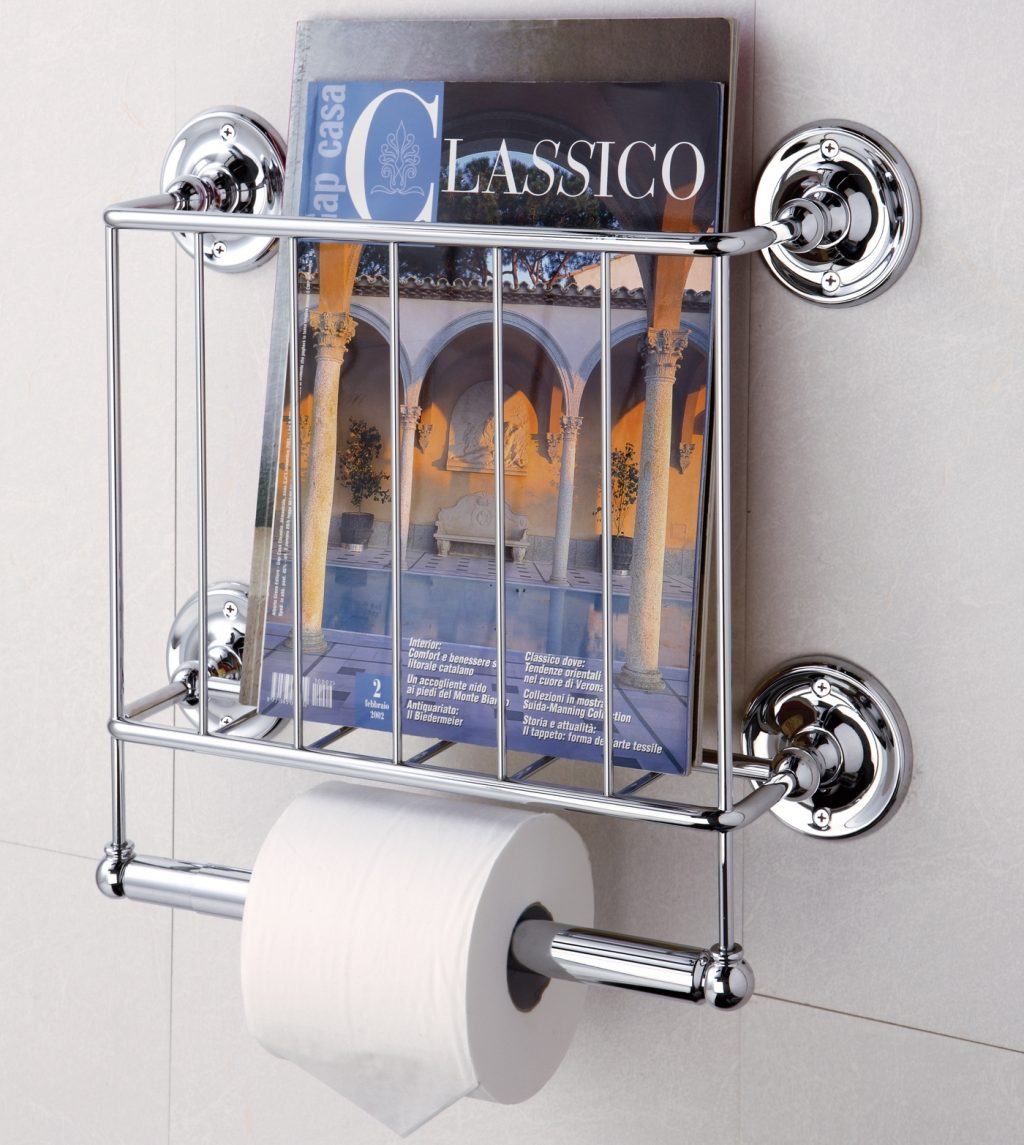 Wall Mounting Magazine Rack Organize It All In Bathroom Magazine