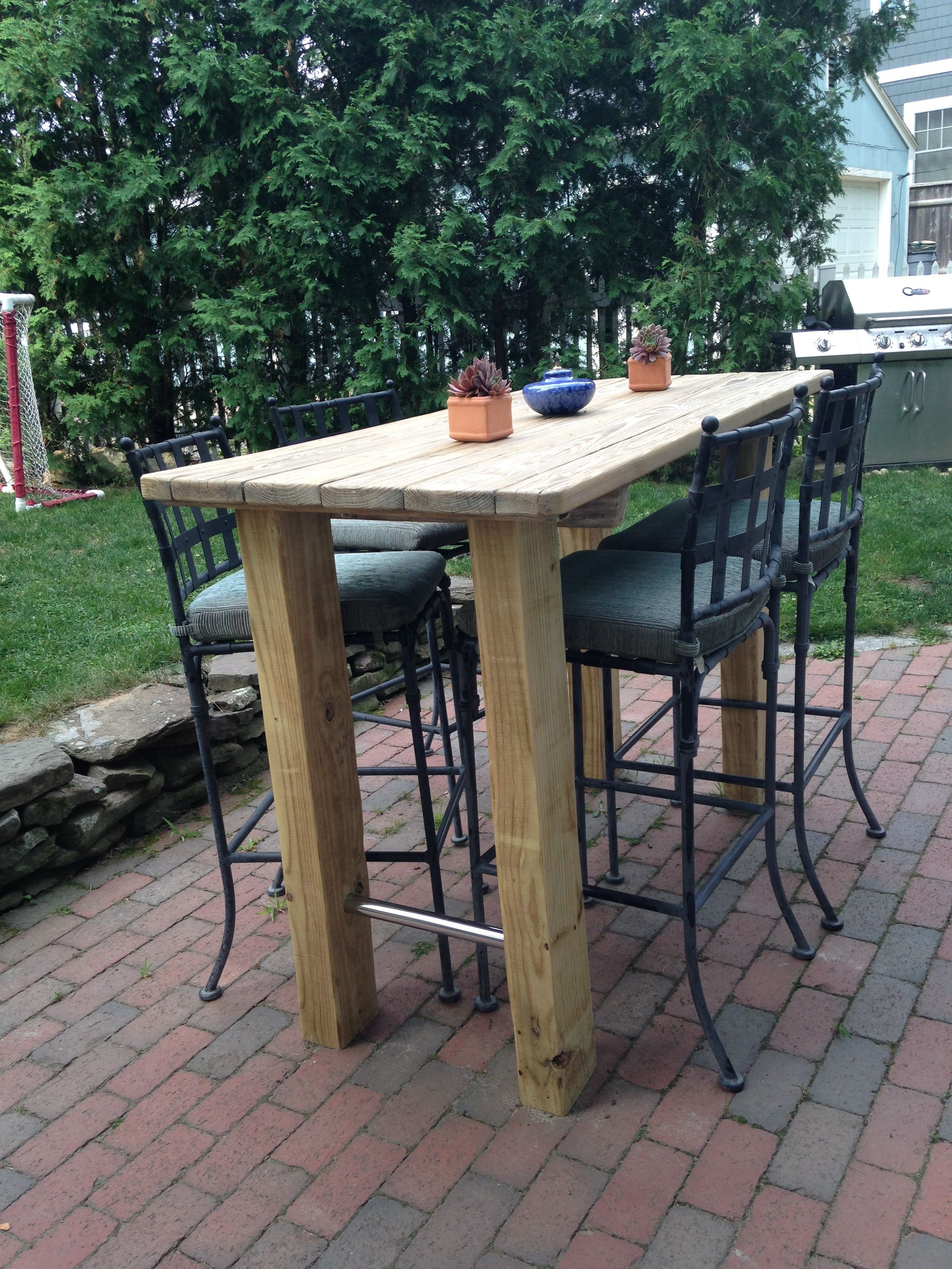 We Wanted A Bar Height Table So Found An Old Picnic Table