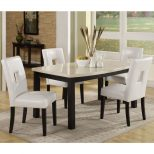 White Dining Room Sets For Small Spaces Zachary Horne Homes