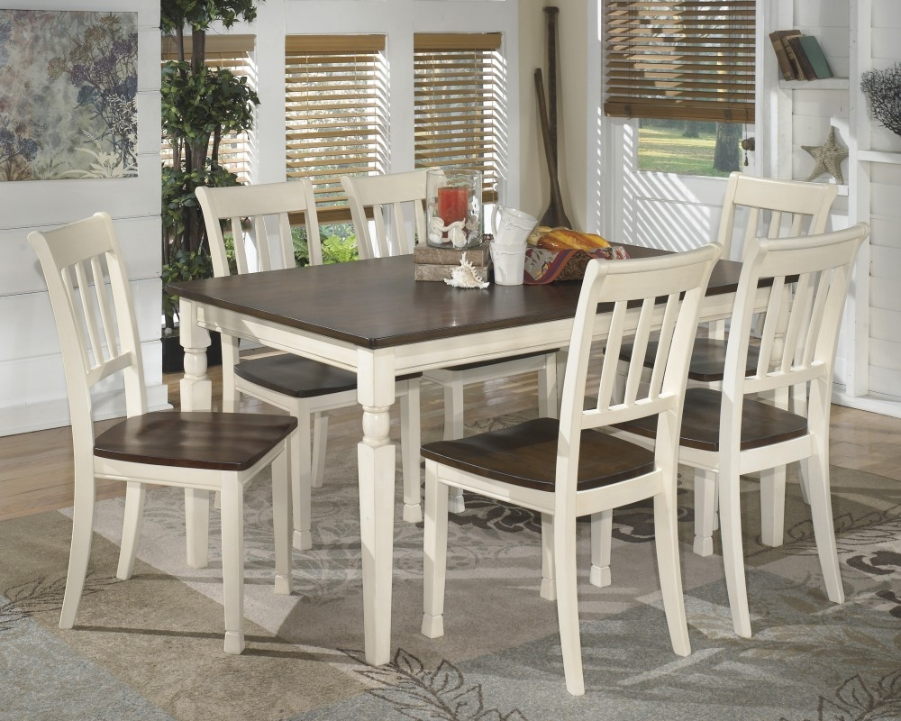 Whitesburg Rectangular Dining Room Table 6 Side Chairs D58325