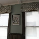 Windows In The Dining Room With A Charley Harper Print In Between
