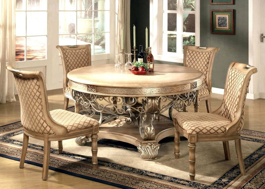 Wonderful Room Sets Luxury Chic Chic Circular Dining Room Also