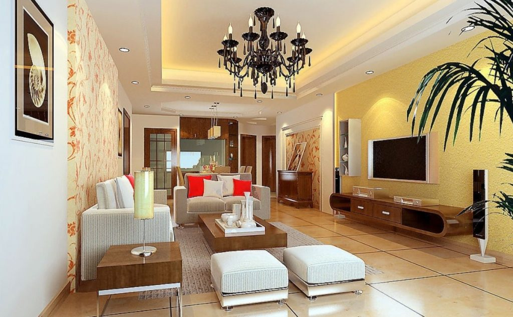 Yellow Grey Walls Living Room Designs Artnak