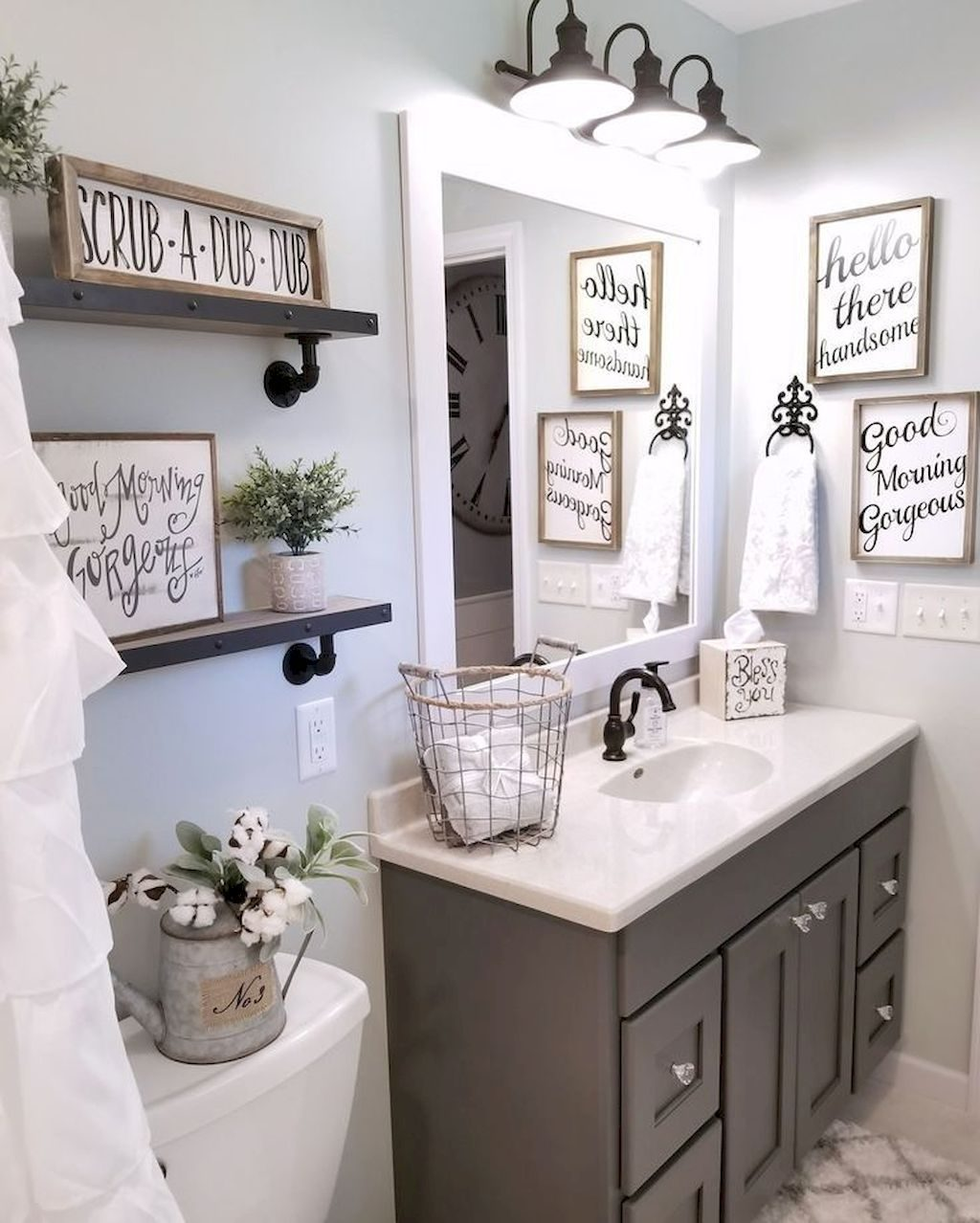 110 Spectacular Farmhouse Bathroom Decor Ideas Ideas For The House