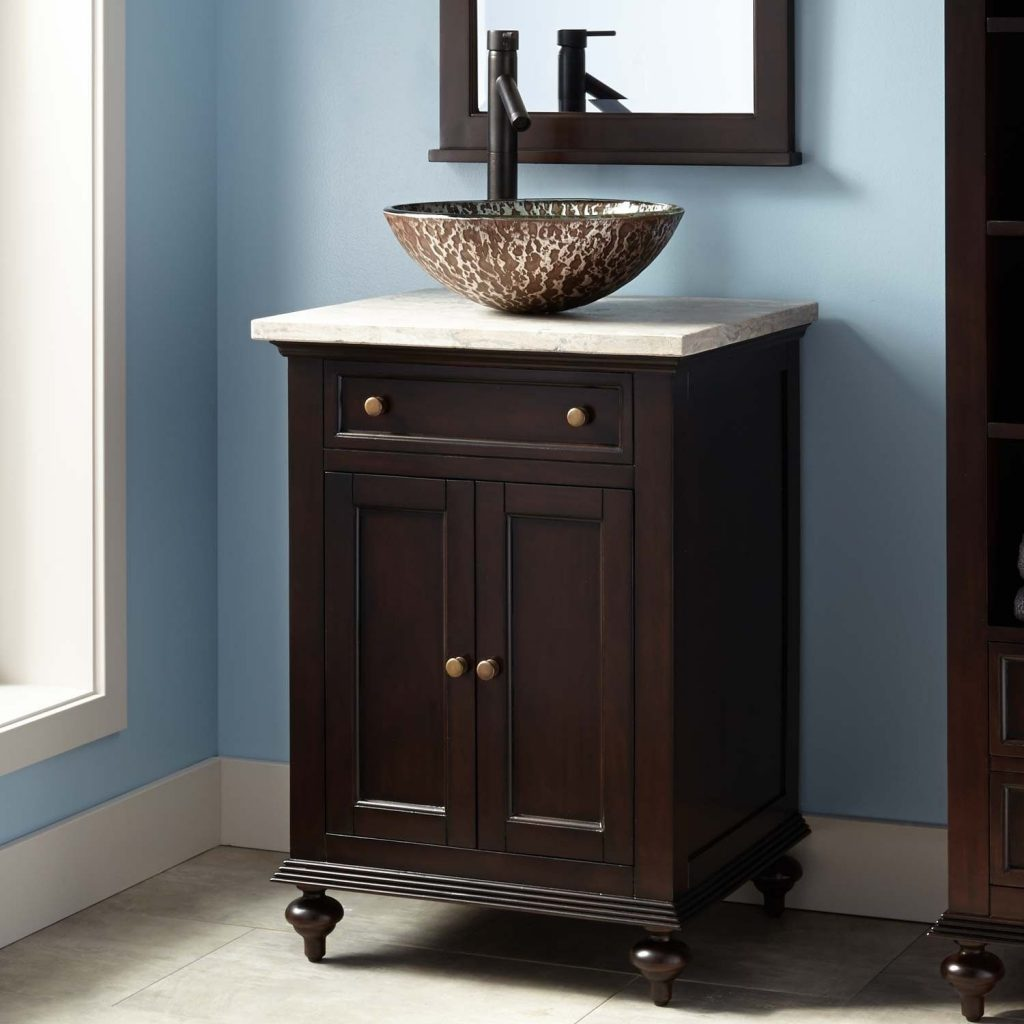 24 Keller Mahogany Vessel Sink Vanity Dark Espresso For The