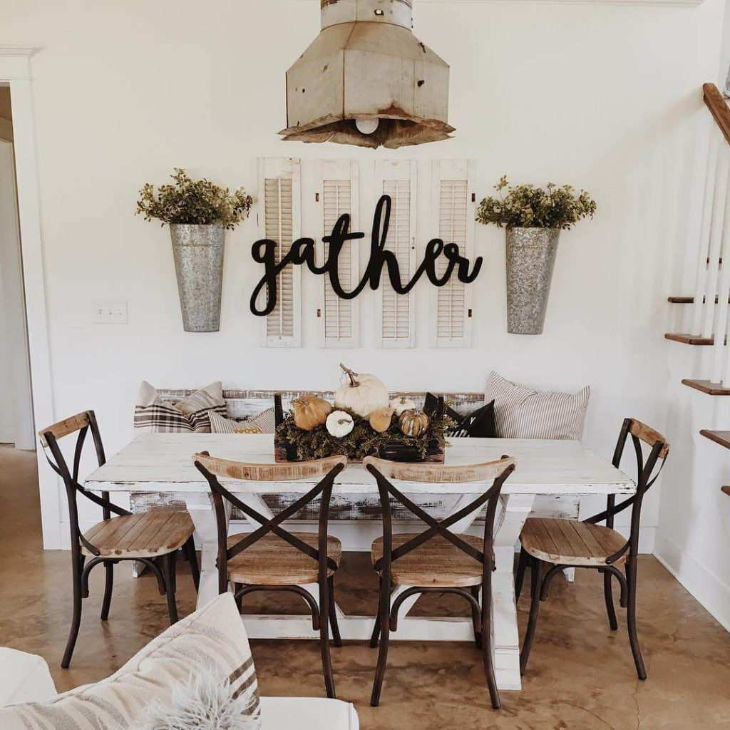 37 Best Farmhouse Dining Room Design And Decor Ideas For 2018