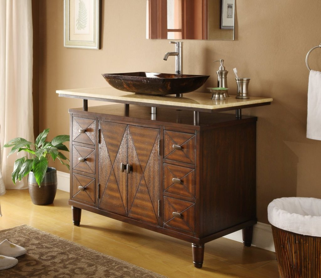48 Inch Bathroom Vanity Made Of Wood