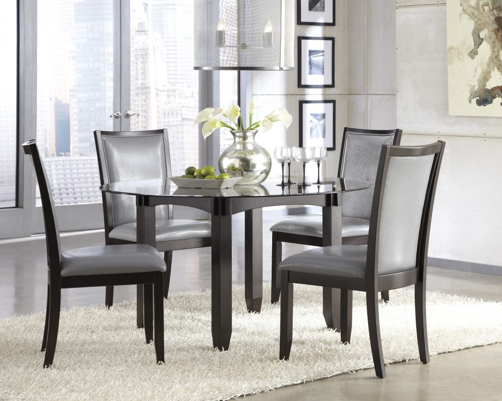 5 Round Black Dining Room Table And Chairs Furniture Ideas