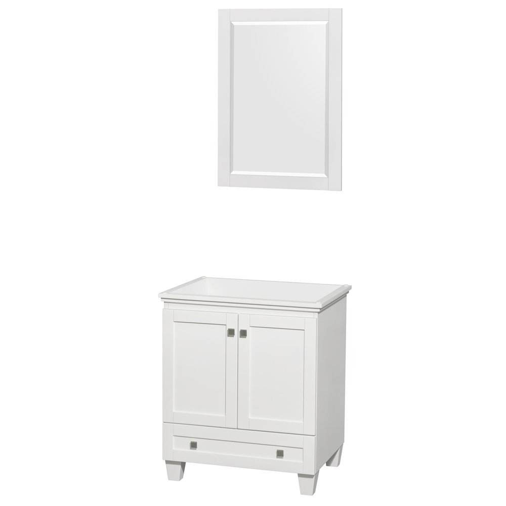 Acclaim 30 Inch Single Bathroom Vanity In White No Countertop No Sink