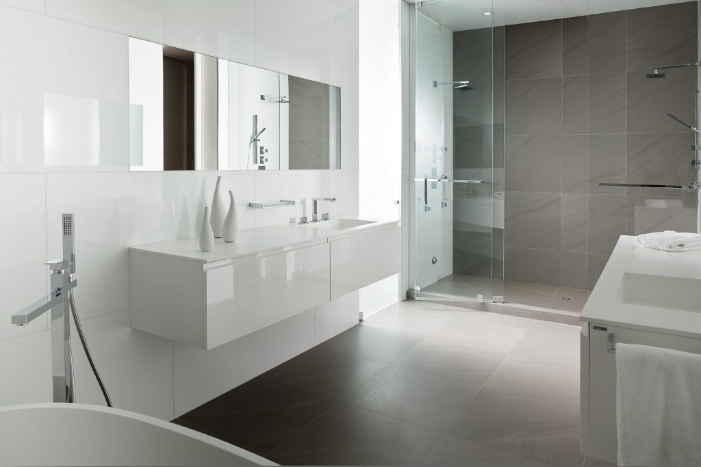 Amazing Of Awesome Elegant White And Gray Bathrooms Theme 2426