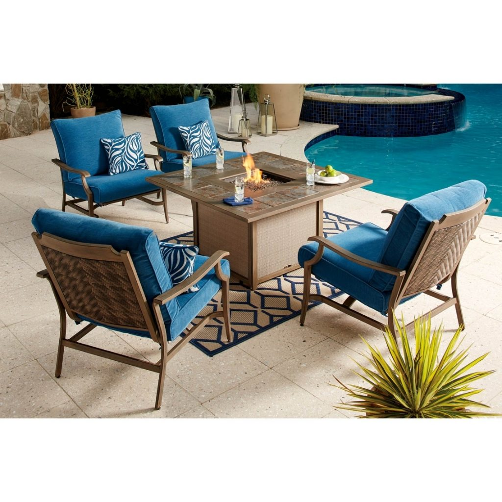 Ashley Partanna Fire Pit With 4 Lounge Chairs Patio Sets More