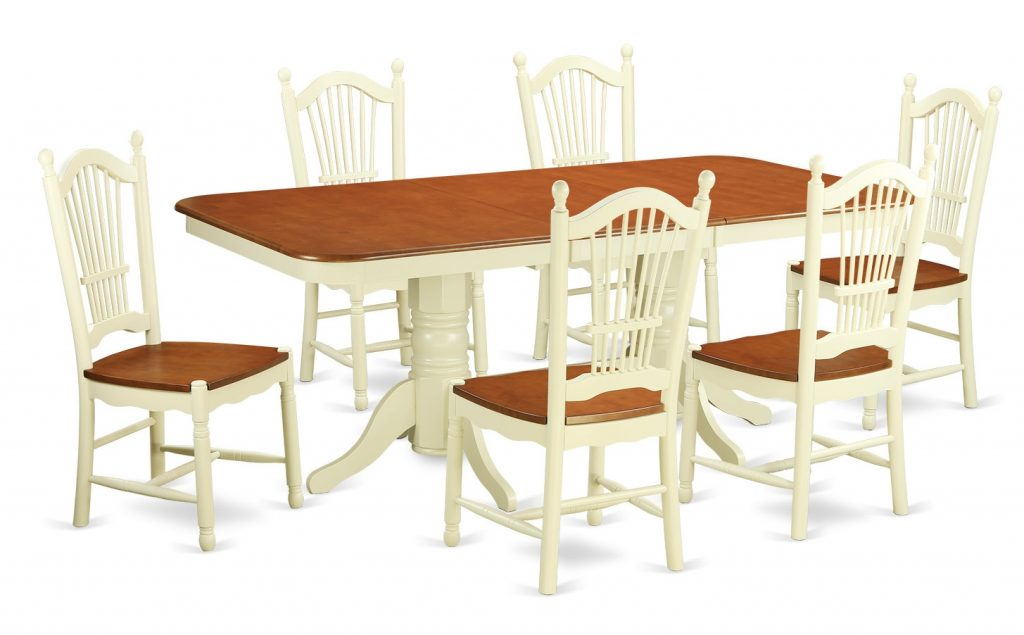 August Grove Pillsbury 7 Piece Dining Set With Double Pedestal Table