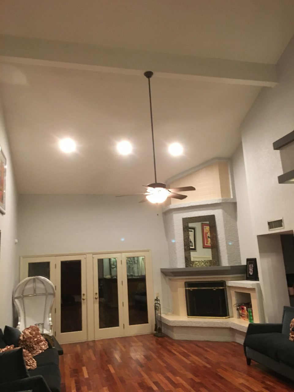 Az Recessed Lighting Installation Family Living Room Kitchen