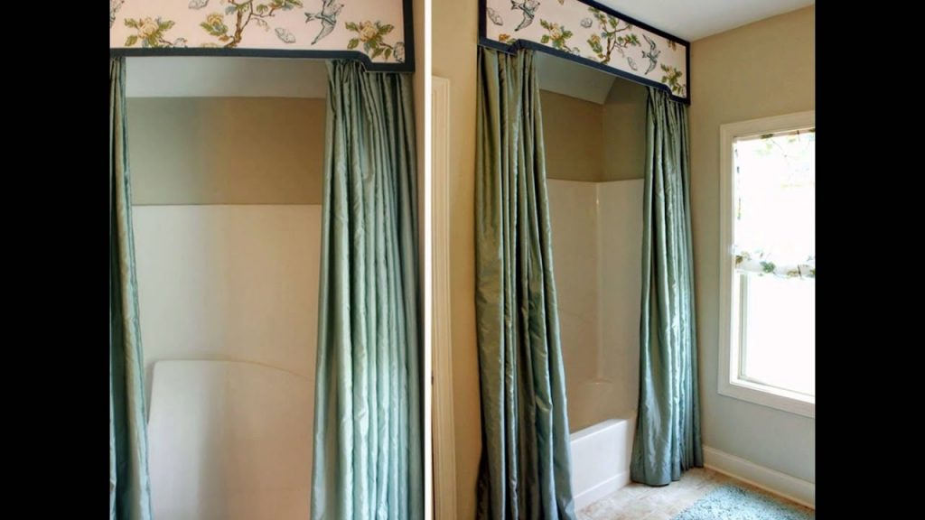 Bathroom Decoration Ideas Using Shower Curtain Valance Youtube