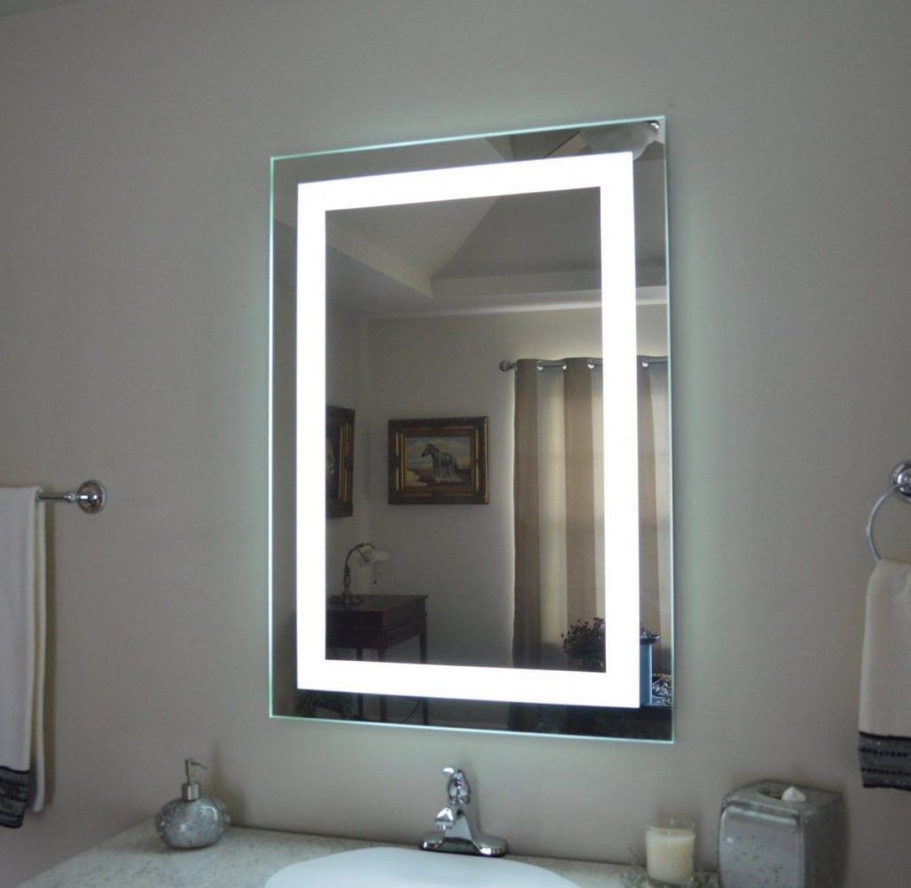 Bathroom Mirror Cabinets Illuminated Lighted Medicine Cabinet