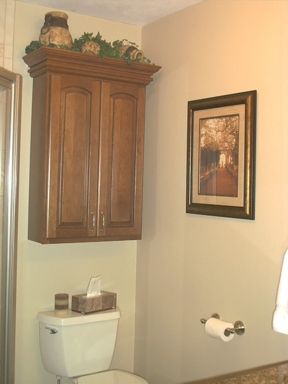 Picture of: Bathroom Storage Cabinets Over Toilet Wall Cabinet Above Toilet In Layjao