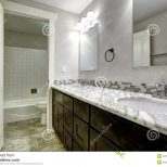 Bathroom Vanity Cabinet With White Granite Top Stock Image Image