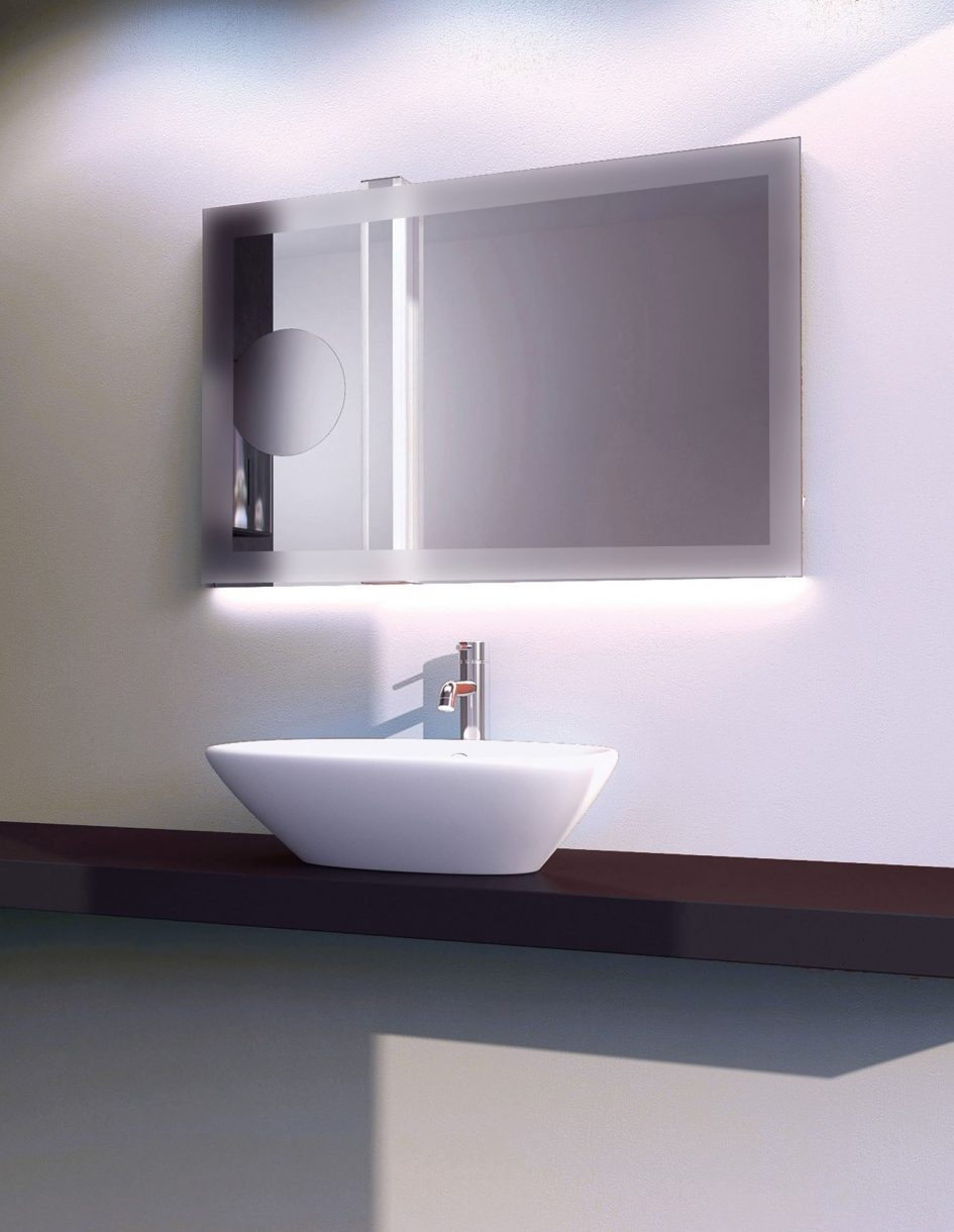 Bathroom Vanity Mirror With Built In Lights Mirror With Lights Large