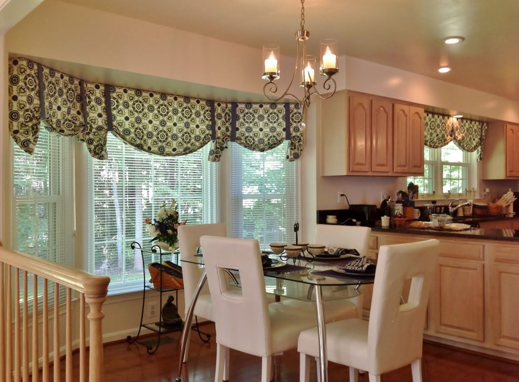 Bay Window Kitchen Curtains And Window Treatment Valance Ideas With