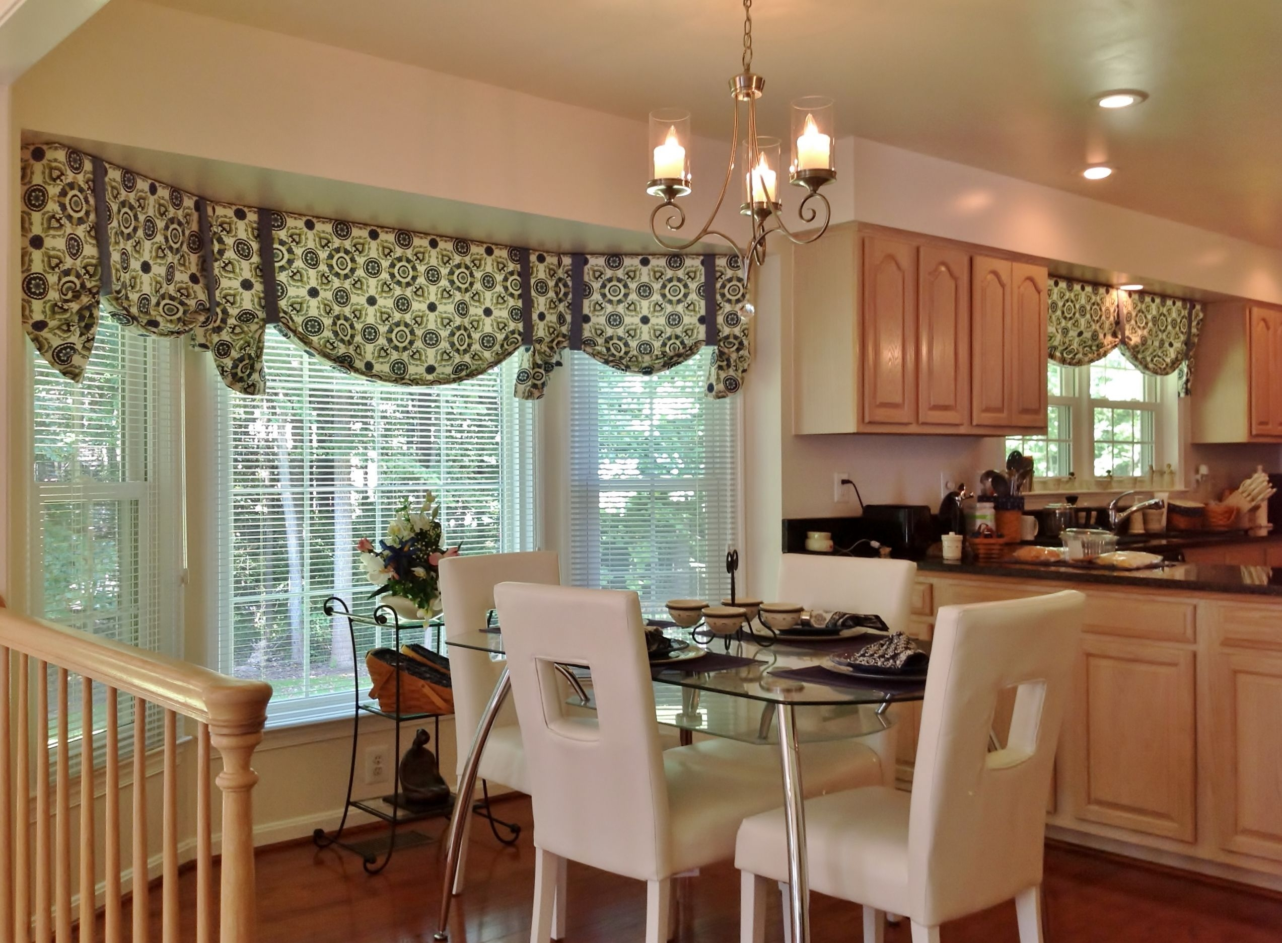 Bay Window Kitchen Curtains And Window Treatment Valance Ideas With Layjao