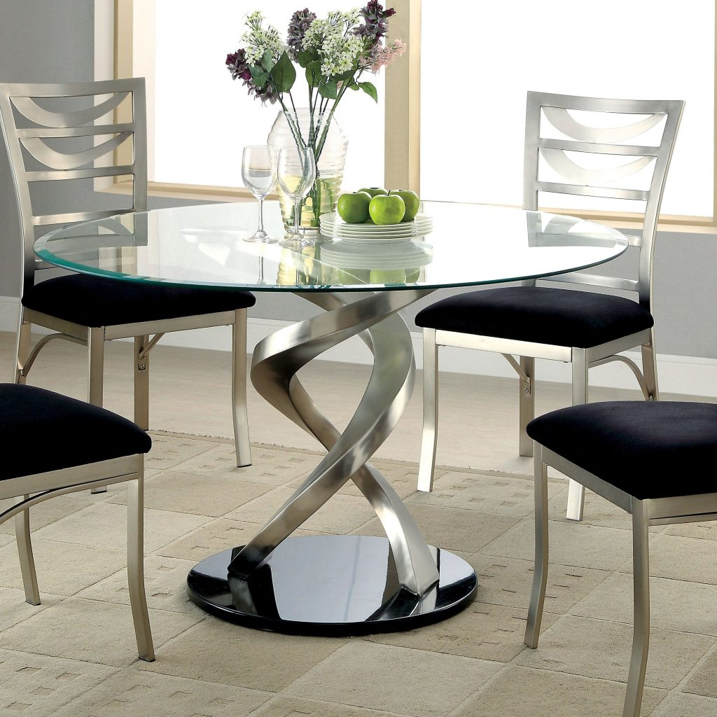 Beautiful Glass Top Dining Room Furniture And Tables Sets Round Inch