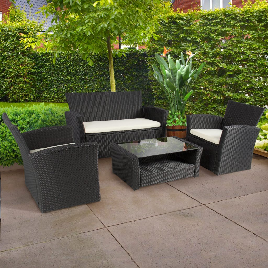 Best Choice Products 4pc Outdoor Patio Garden Furniture Wicker