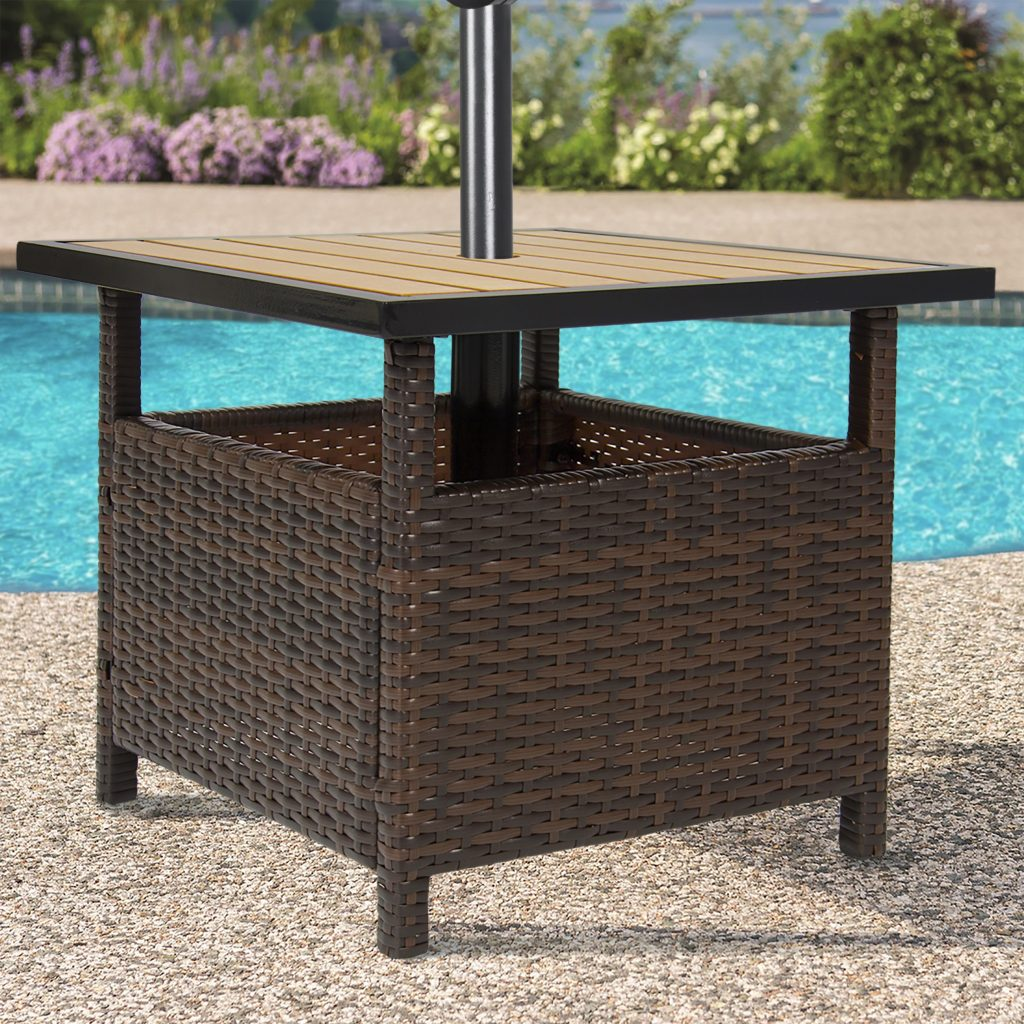 Best Choice Products Outdoor Furniture Wicker Rattan Patio Umbrella