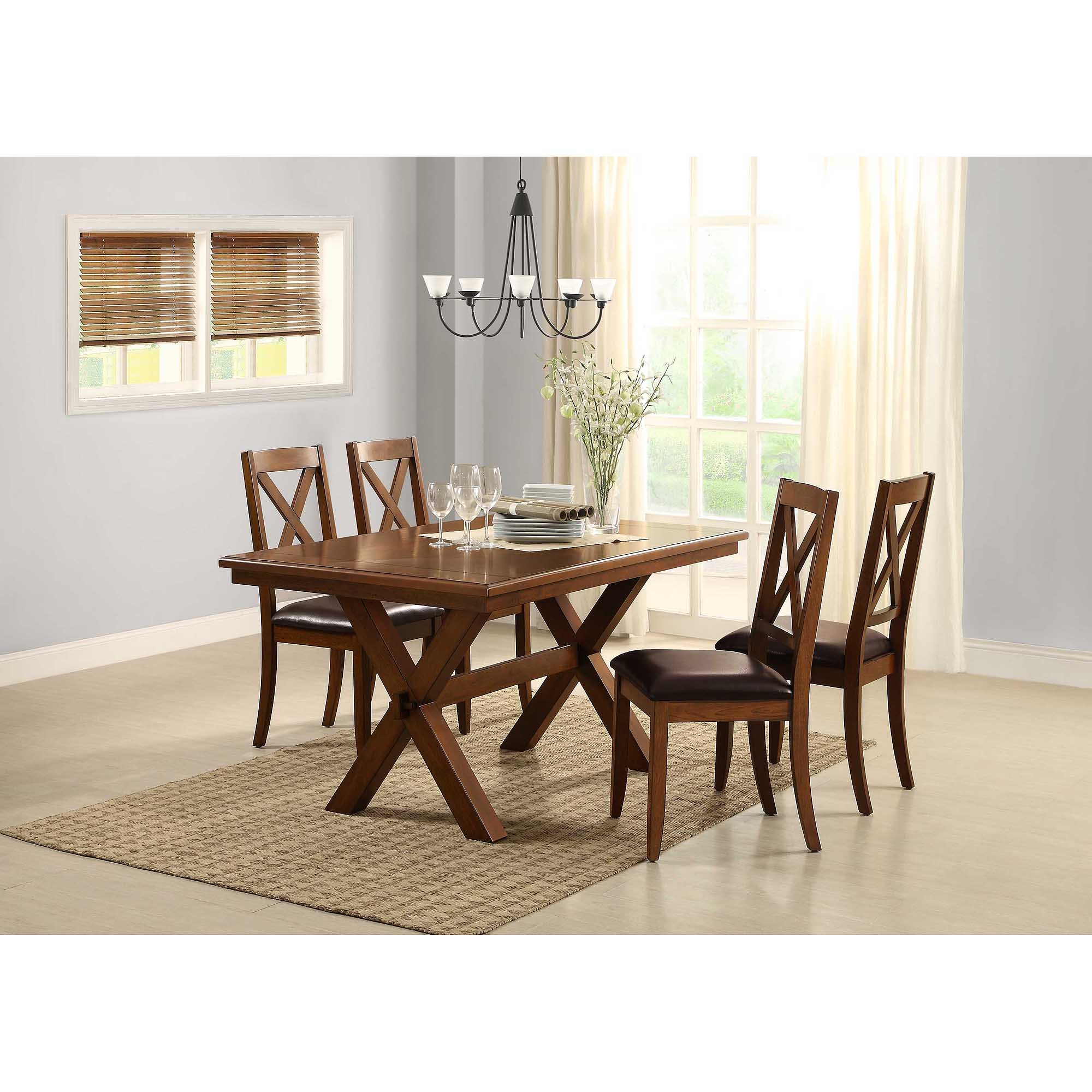 Better Homes Gardens Maddox Crossing Dining Table Brown Walmart ...