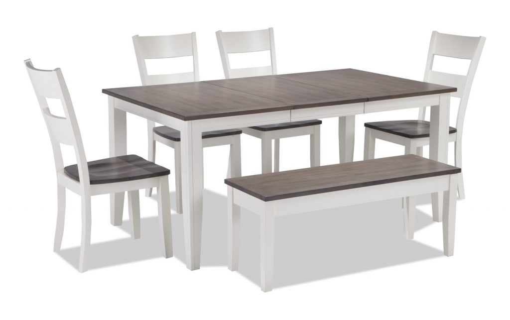 Blake 6 Piece Dining Set With Storage Bench Bobs Discount Furniture