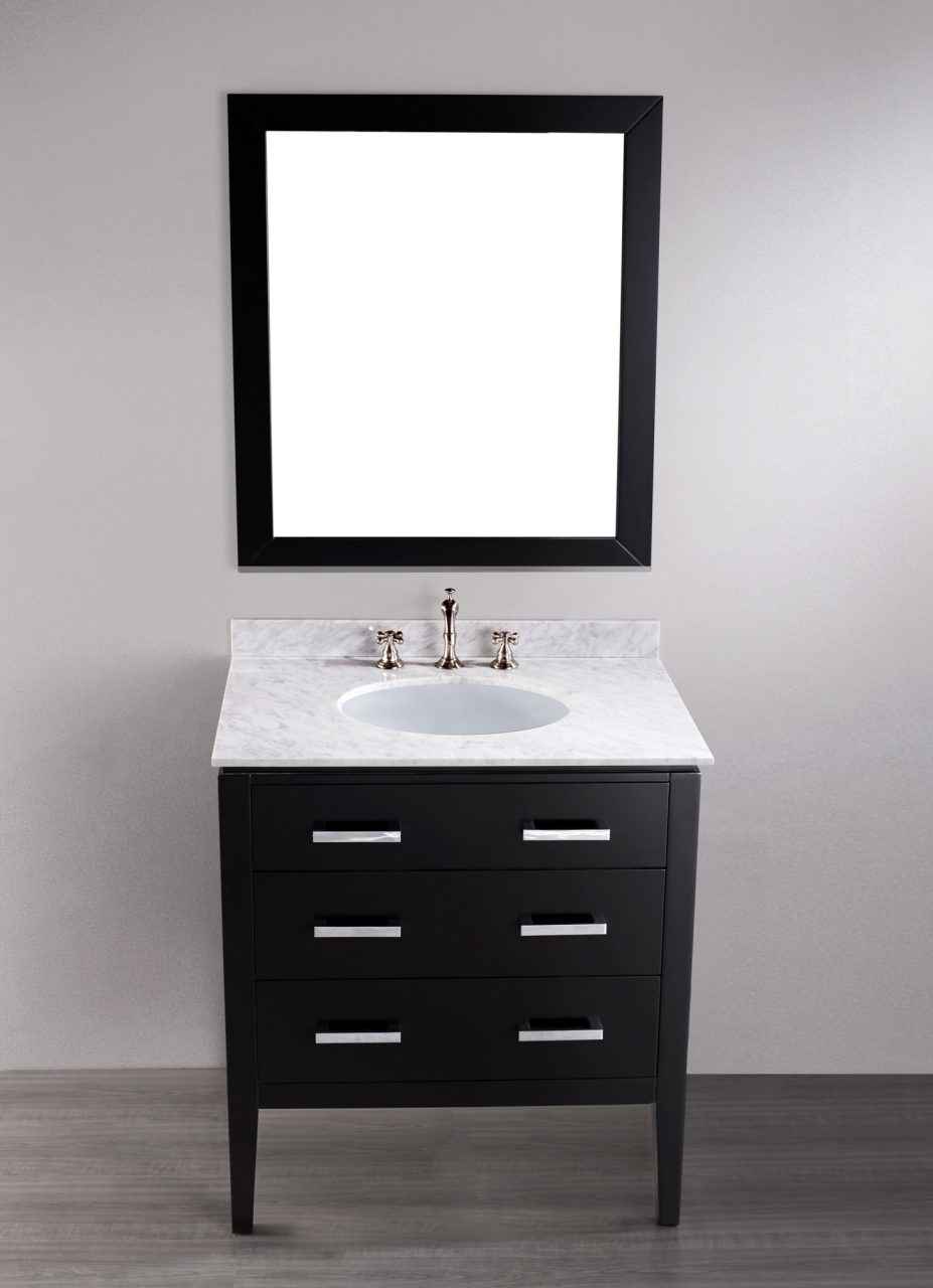 Bosconi 31 Inch Contemporary Single Sink Bathroom Vanity