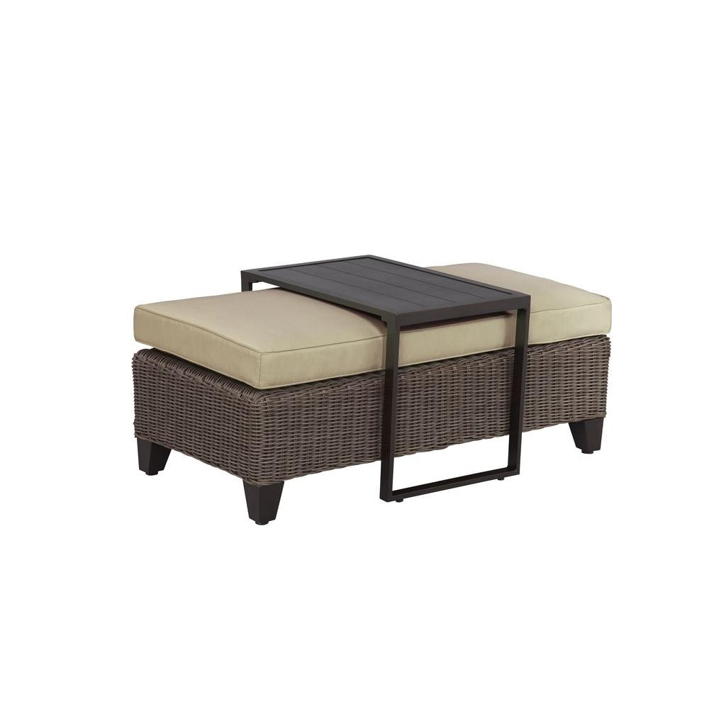 Brown Jordan Vineyard Patio Ottomancoffee Table With Meadow Cushion