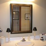 Chic Large Bathroom Vanity Mirror How To Install A Wall Vanity
