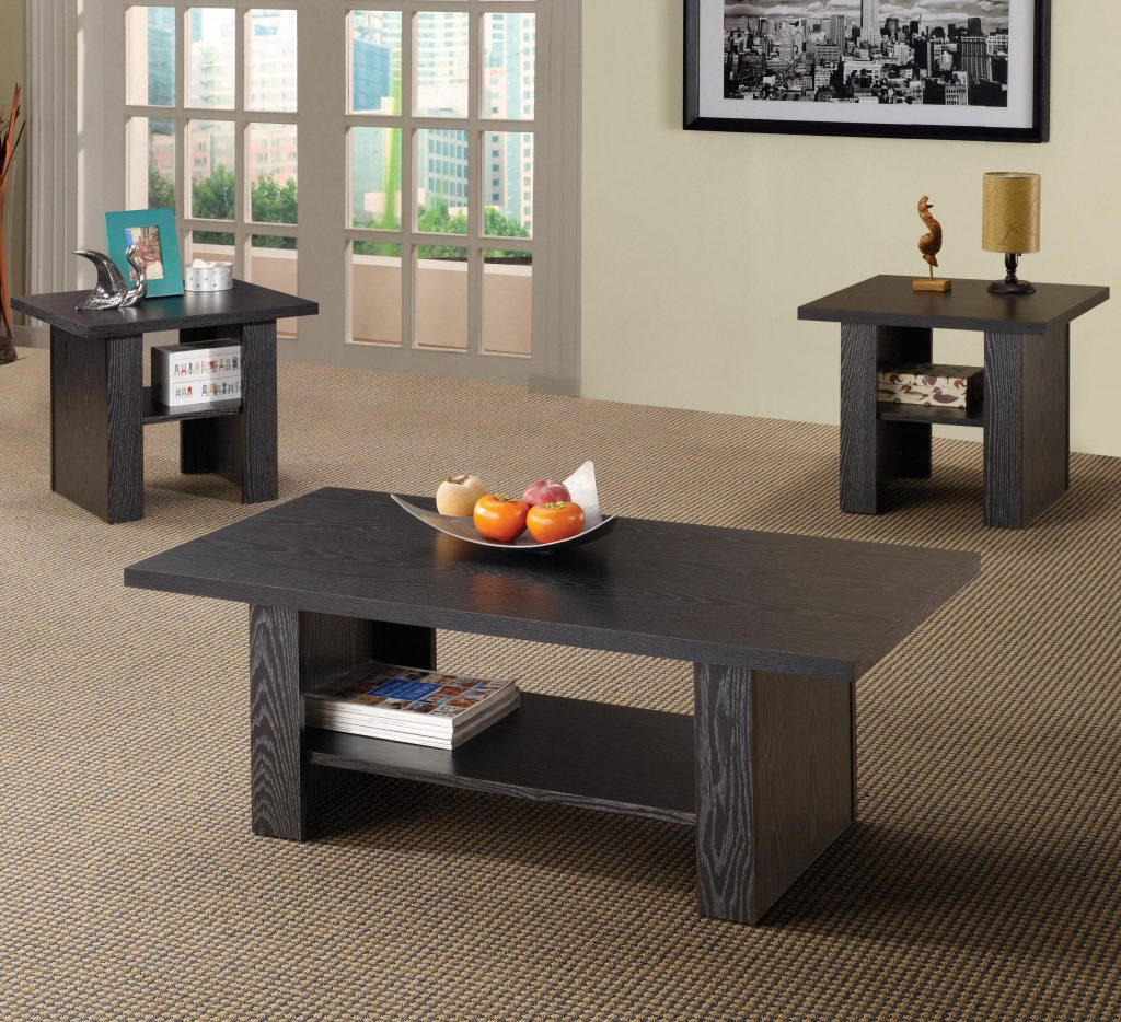 Coaster Occasional Table Sets 700345 Contemporary 3 Piece Occasional