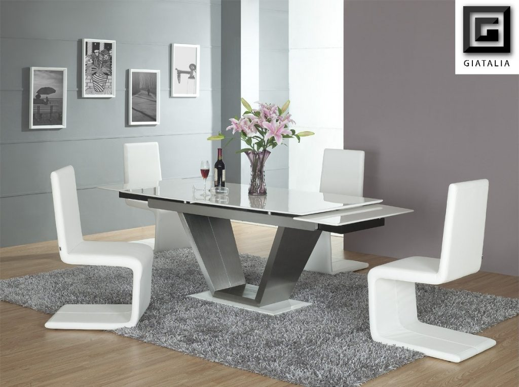 Contemporary White Dining Room Furniture Dining Chairs Short Dining