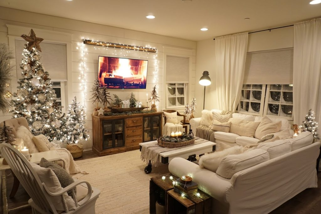 Cozy Christmas Living Room Night Tour Mrs Rollman Blog