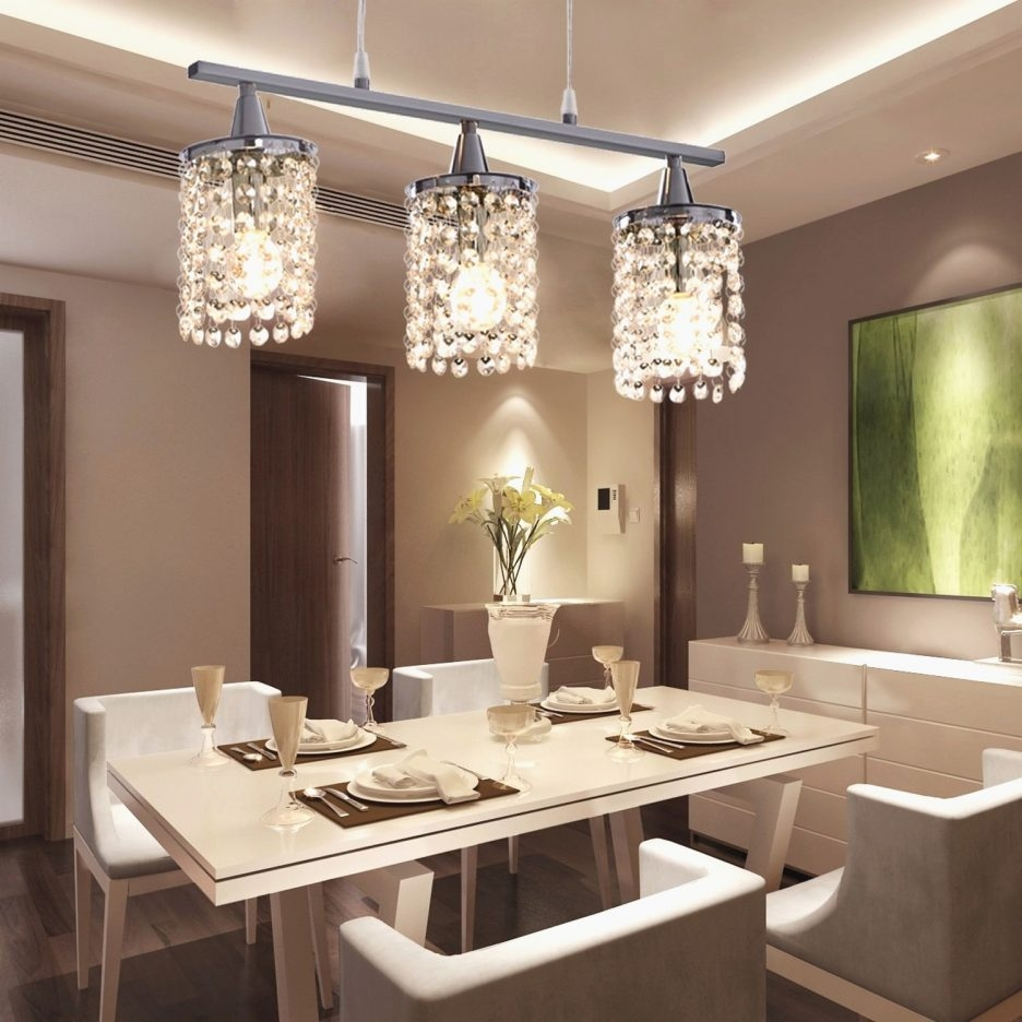 Crystal Light Fitting Contemporary Crystal Chandelier For Dining