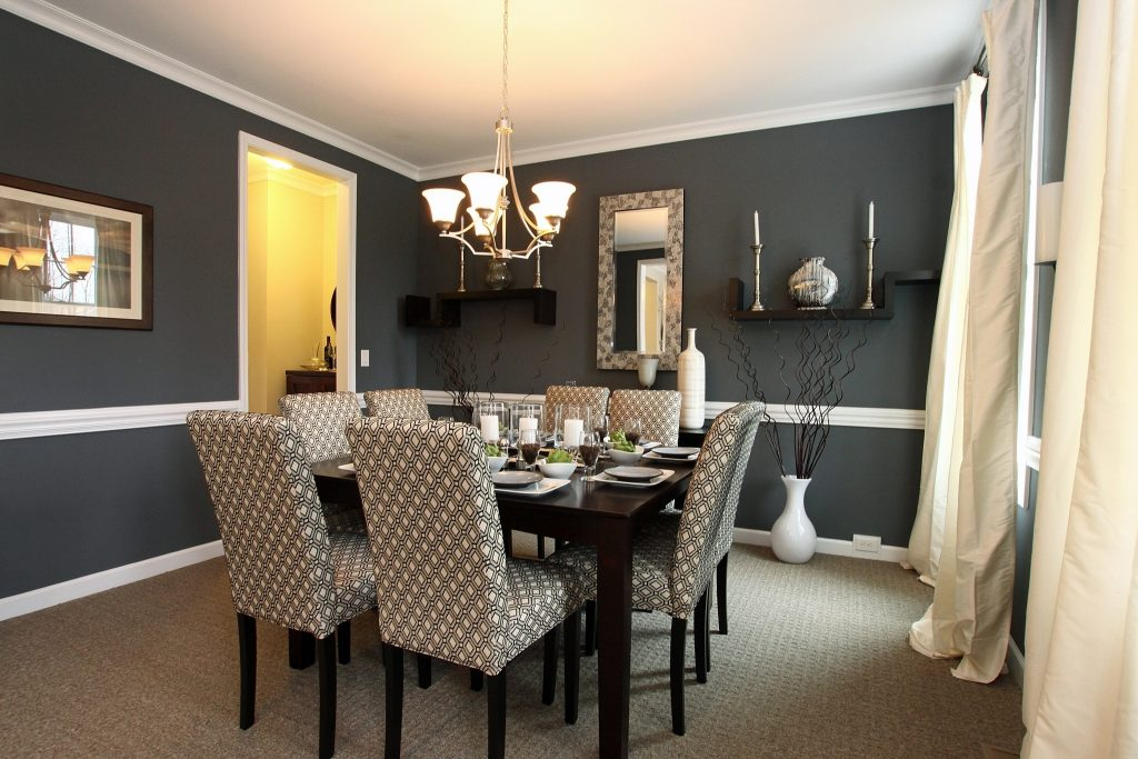 Cute Dining Room Decor Gray Walls 58 For Black N White Living Room