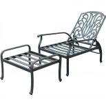 Darlee Elisabeth Cast Aluminum Patio Reclining Club Chair And