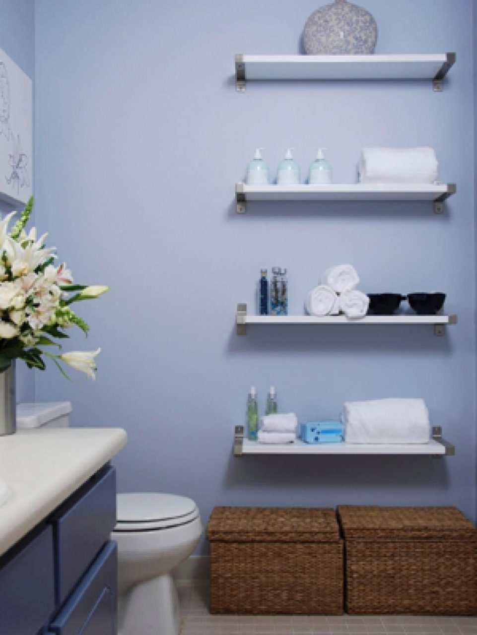Decorating Small Bathroom Shelves Bathroom Decoration Ideas