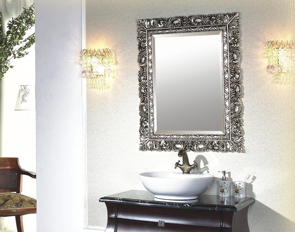 Decorative Bathroom Mirrors Element Choice Silver For Bathrooms Full