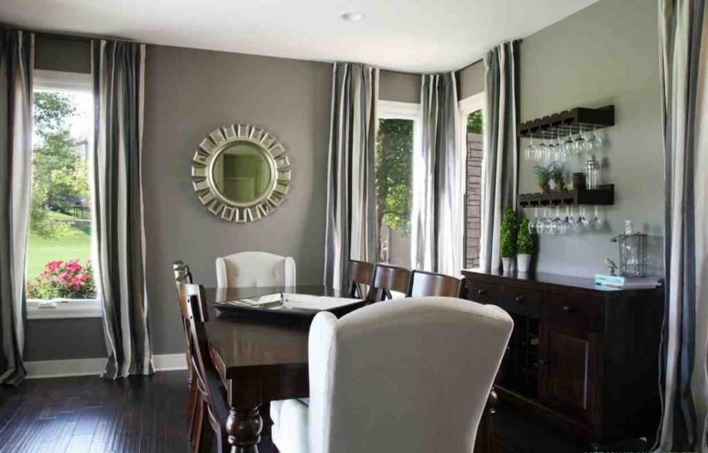 Dining Room Awesome Small Apartment Dining Room Painting Gray