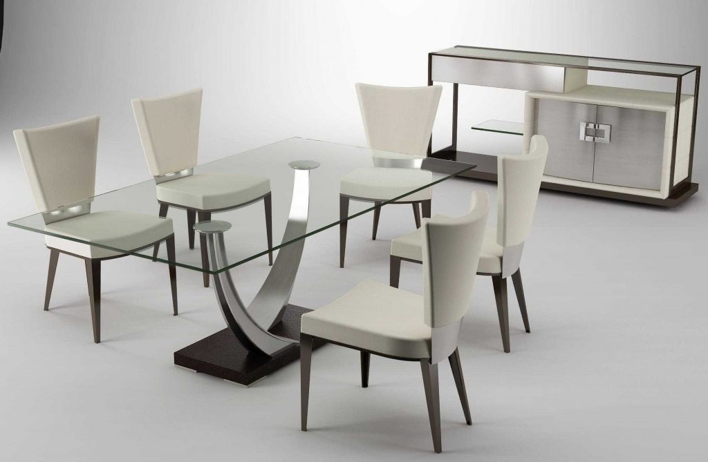 Dining Room Contemporary Nook Dining Set Modern Glass Dining Table