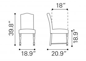 Dining Room Chairs Dimensions