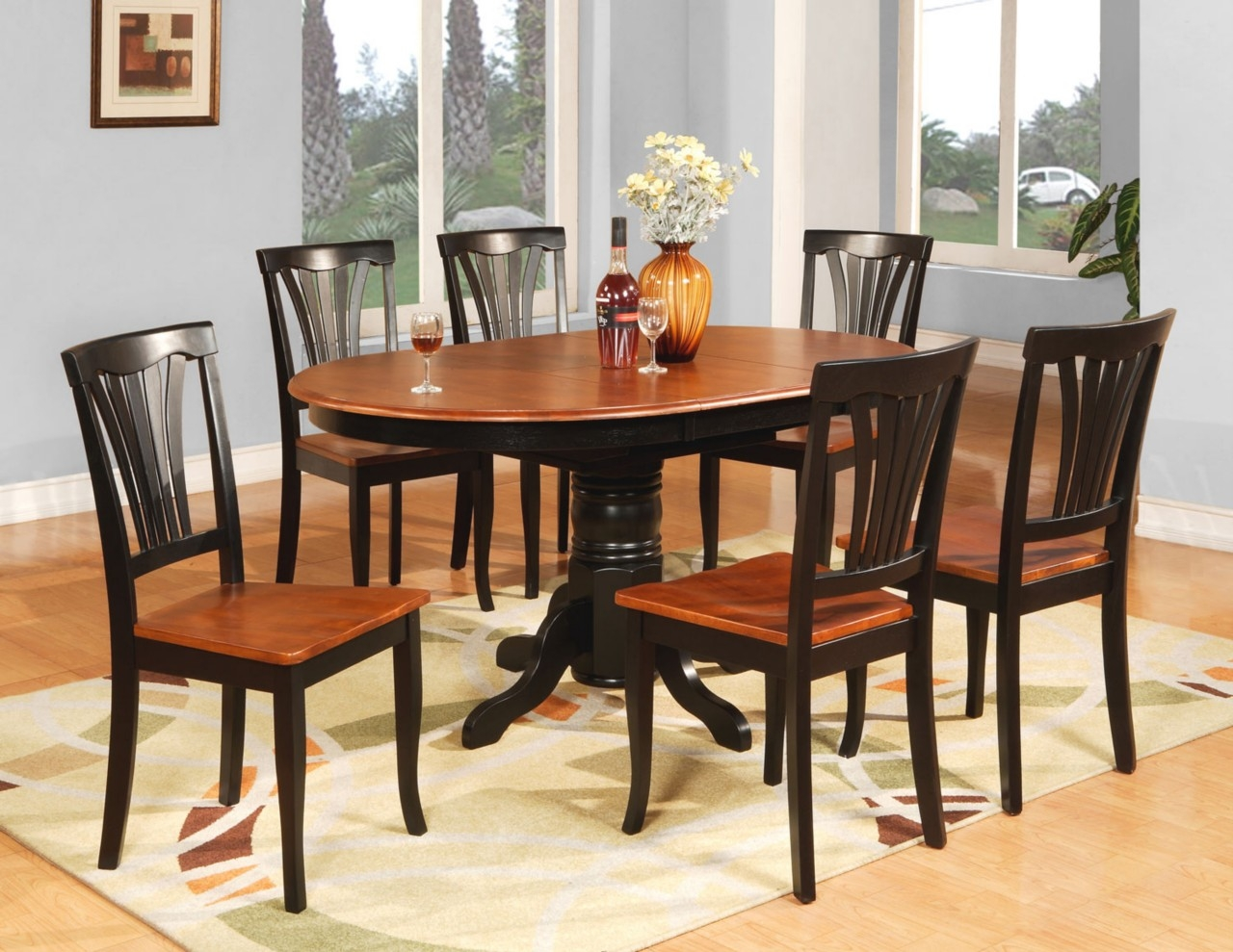 Dining Tables Glamorous Oval Dining Table Set Oval Table Sets Oval ...